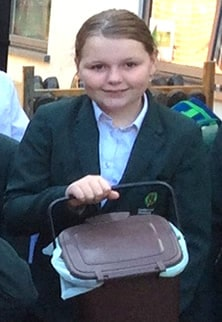 Year 6 Eco-Warrior with compost bin
