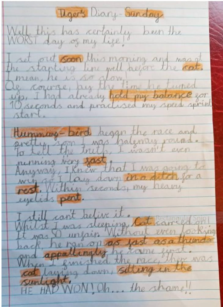 Y6 class text