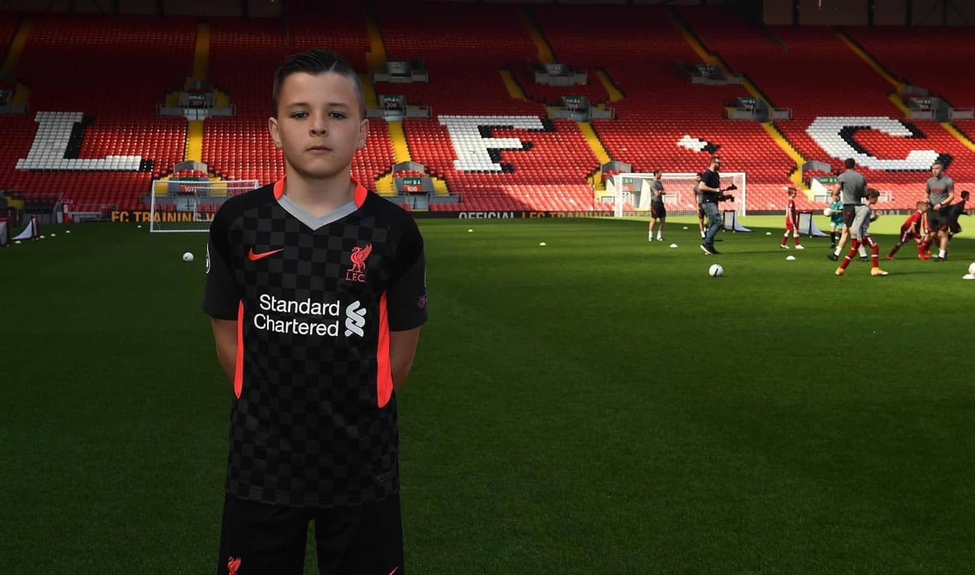 Pupil on Anfield pitch