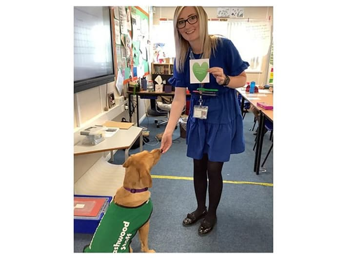 Ms Williams with Lily