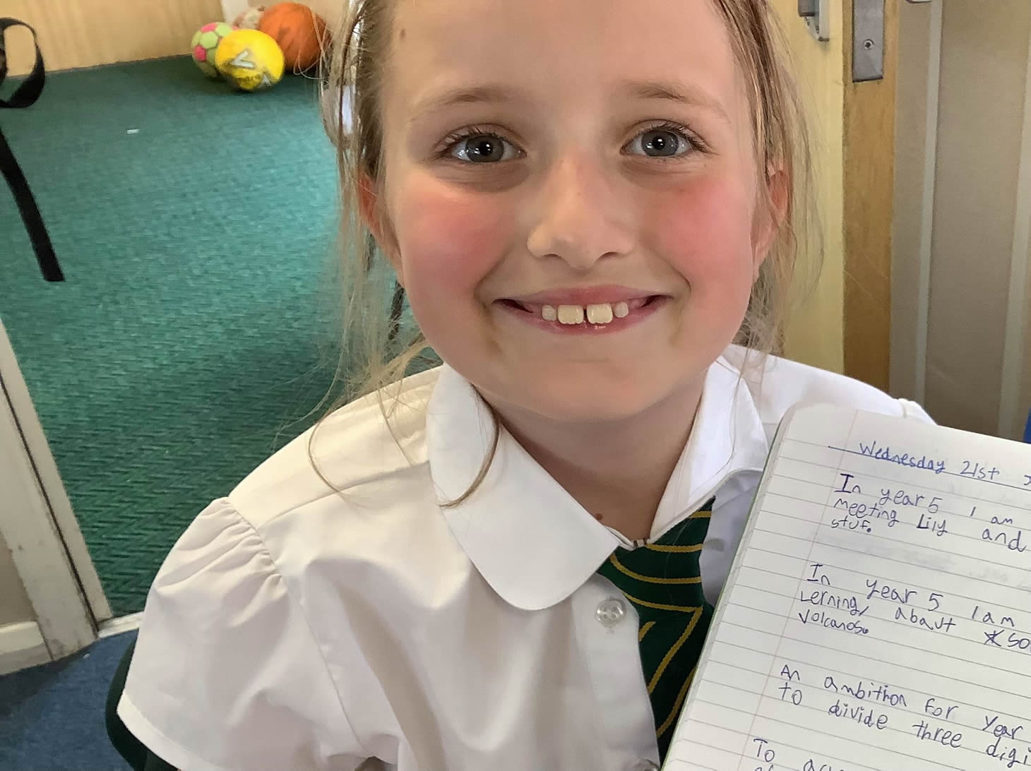 Pupil with class work