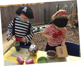 Children dressed as pirates